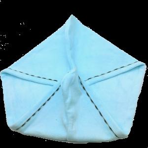 serviette turban bleu