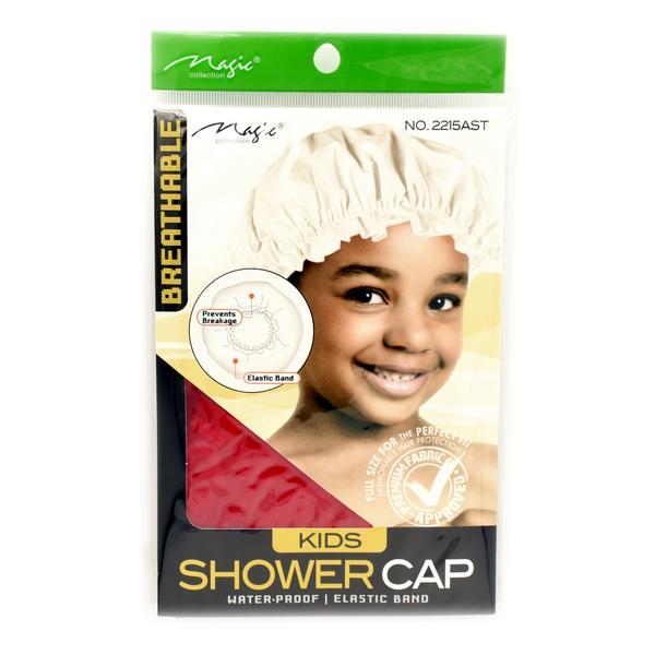 bonnet de douche enfant rouge magic collection