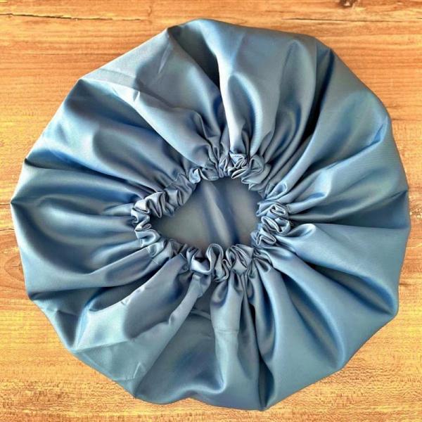 Bonnet de douche lavable et réutilisable bleu kalavy