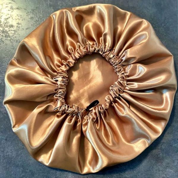 Bonnet de nuit en satin Bronze kalavy