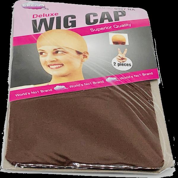 bonnet perruque marron