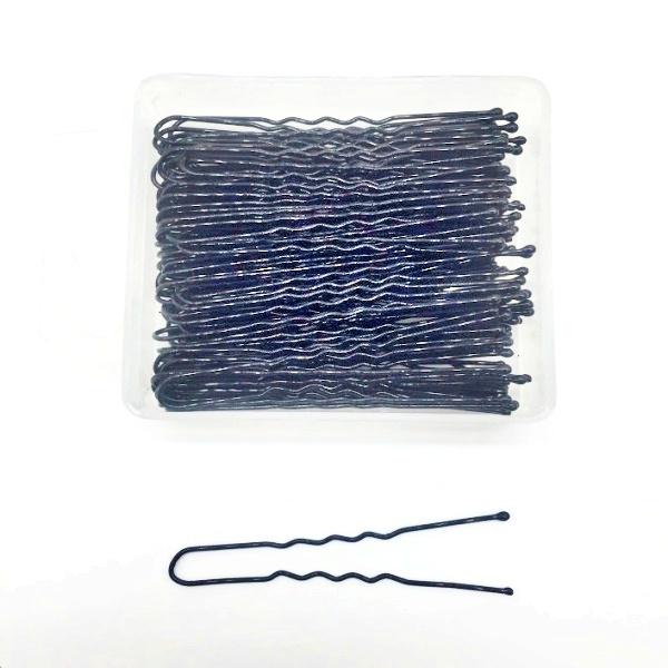 épingles à cheveux ondulées noires 60 mm