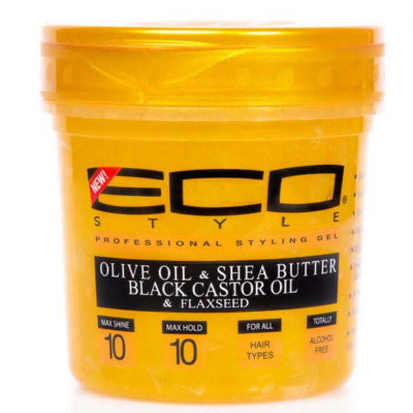 Gel à l'huile d'olive beurre de karité et huile de ricin