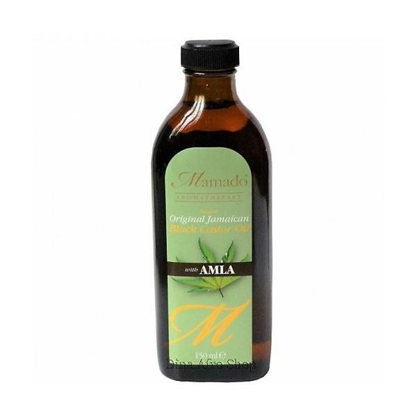 huile de ricin noir avec amla mamado aromatherapy