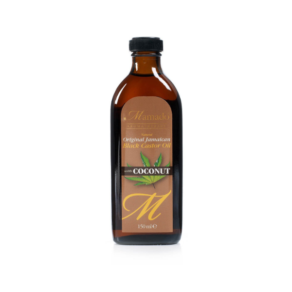 huile de ricin noir jamaïcaine avec noix de coco