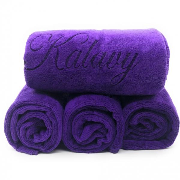 serviette violettes kalavy